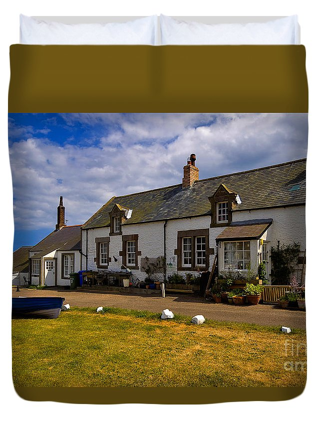 Travel Duvet Cover featuring the photograph Low Newton By The Sea by Louise Heusinkveld