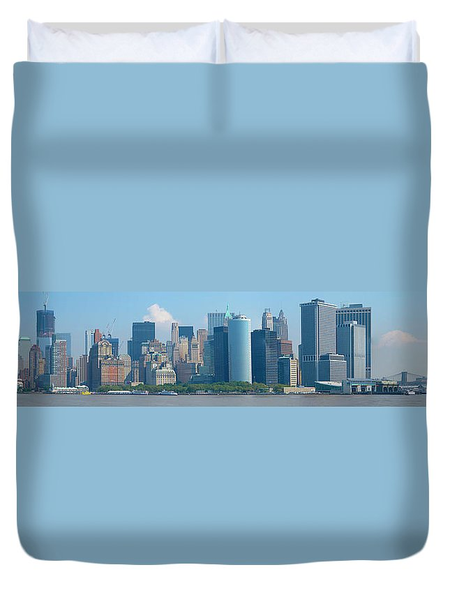 New York City Duvet Cover featuring the photograph Lower Manhattan by Douglas J Fisher