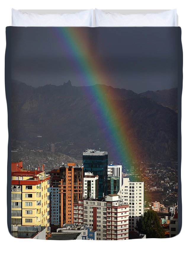 La Paz Duvet Cover featuring the photograph Lucky For Someone by James Brunker
