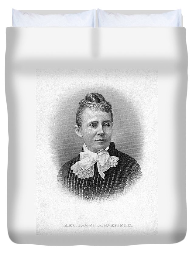 1881 Duvet Cover featuring the painting Lucretia Garfield (1832-1918) by Granger