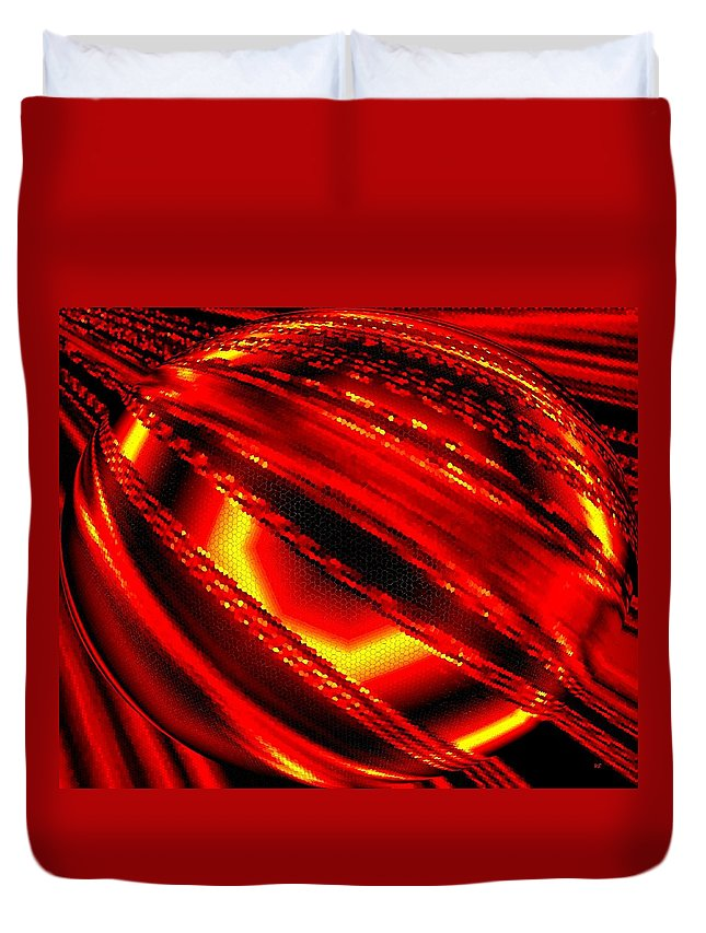 Luminous Energy 20 Duvet Cover featuring the digital art Luminous Energy 20 by Will Borden