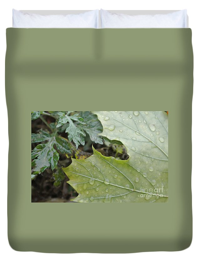 Green Duvet Cover featuring the photograph Lush by Charlotte Stevenson