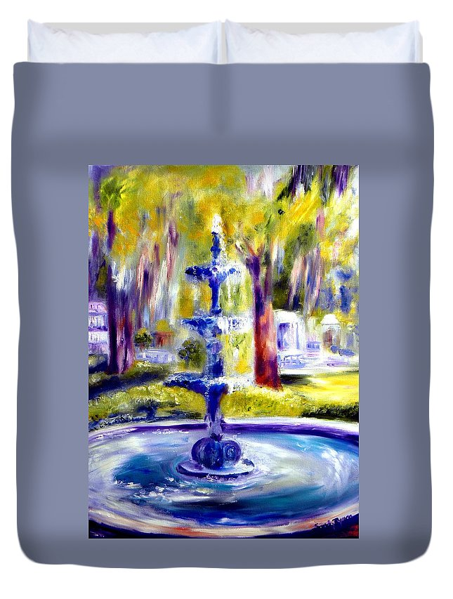 Savannah Duvet Cover featuring the painting Luv by Sandy Ryan