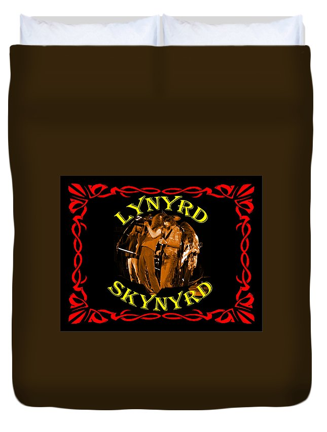 Lynyrd Skynyrd Duvet Cover featuring the photograph L S Art 1 by Ben Upham