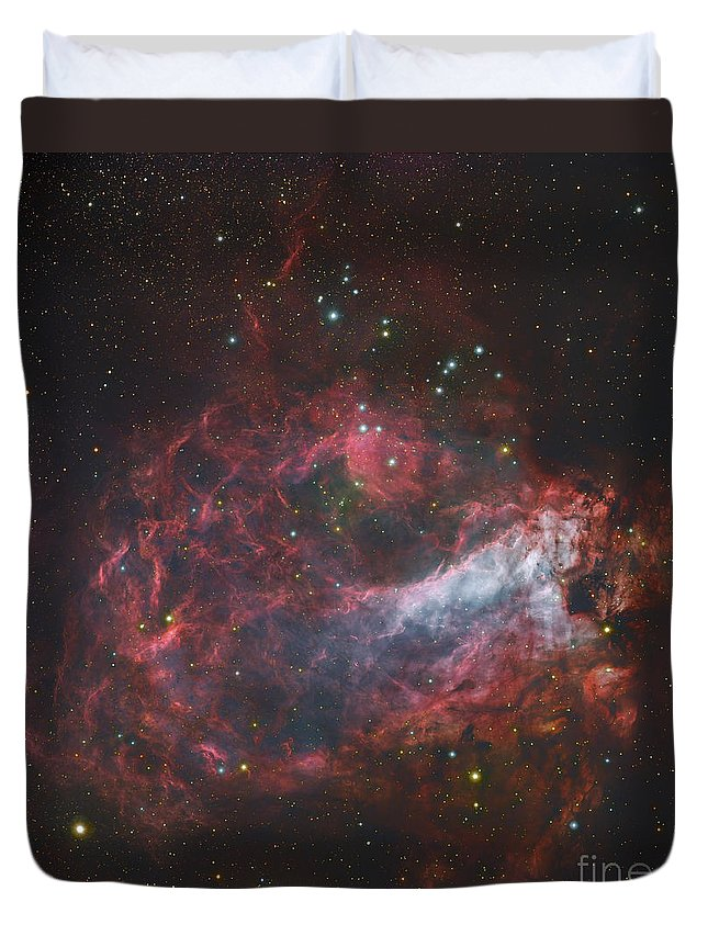 H Ii Regions Duvet Cover featuring the photograph M17, The Omega Nebula In Sagittarius by Robert Gendler
