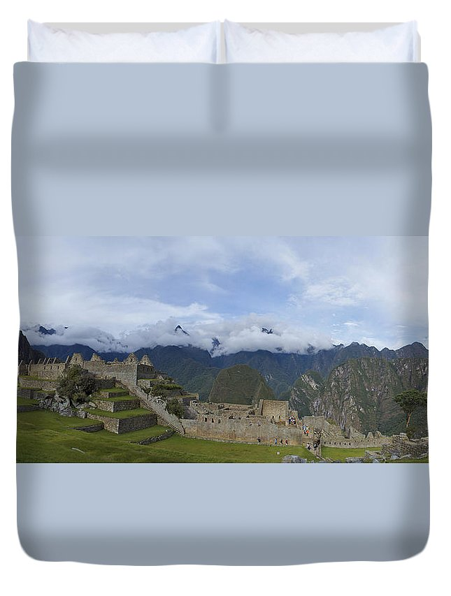 Urubamba Valley Duvet Cover featuring the photograph Machu Picchu by Brian Kamprath