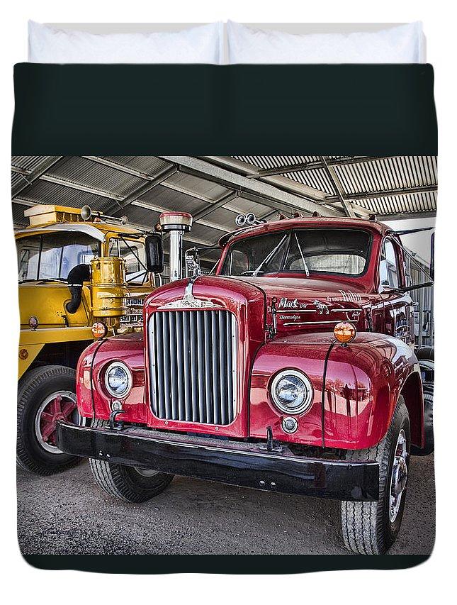 Mack Truck Duvet Cover featuring the photograph Mack Truck V2 by Douglas Barnard