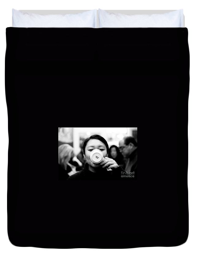 Analog Duvet Cover featuring the photograph Made In China by Jannis Werner