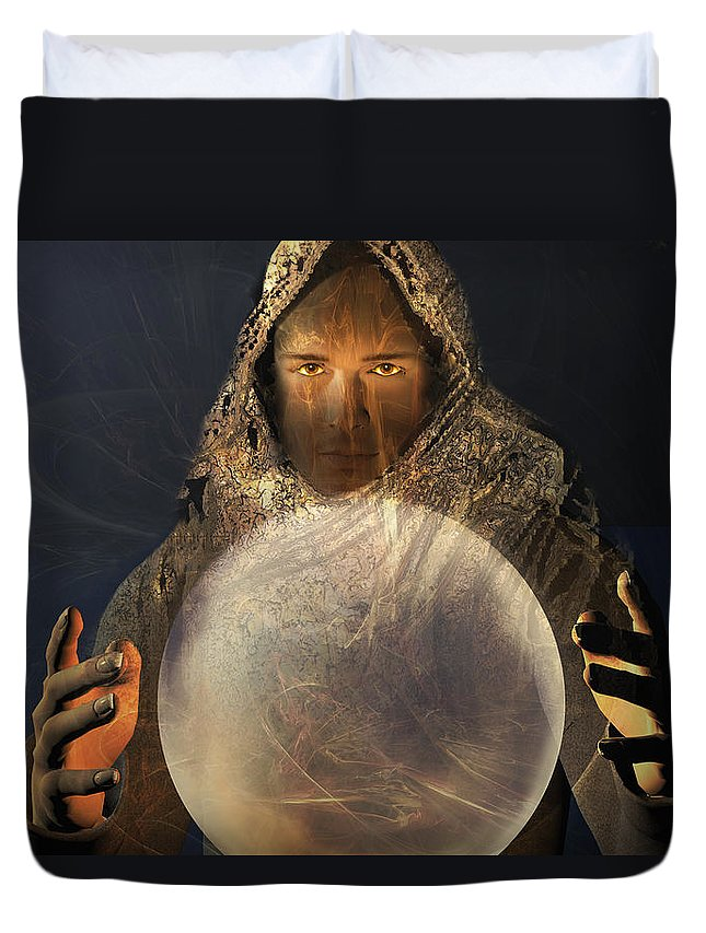 Ball Duvet Cover featuring the digital art Mage by Carol and Mike Werner