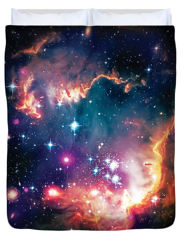 Universe Duvet Cover featuring the photograph Magellanic Cloud 1 by Jennifer Rondinelli Reilly - Fine Art Photography