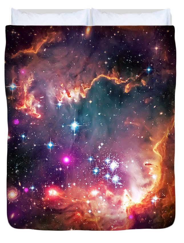 Universe Duvet Cover featuring the photograph Magellanic Cloud 2 by Jennifer Rondinelli Reilly - Fine Art Photography
