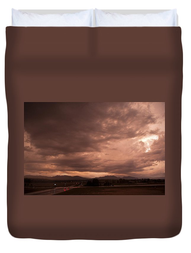 Magenta Duvet Cover featuring the photograph Magenta Clouds by Marilyn Hunt
