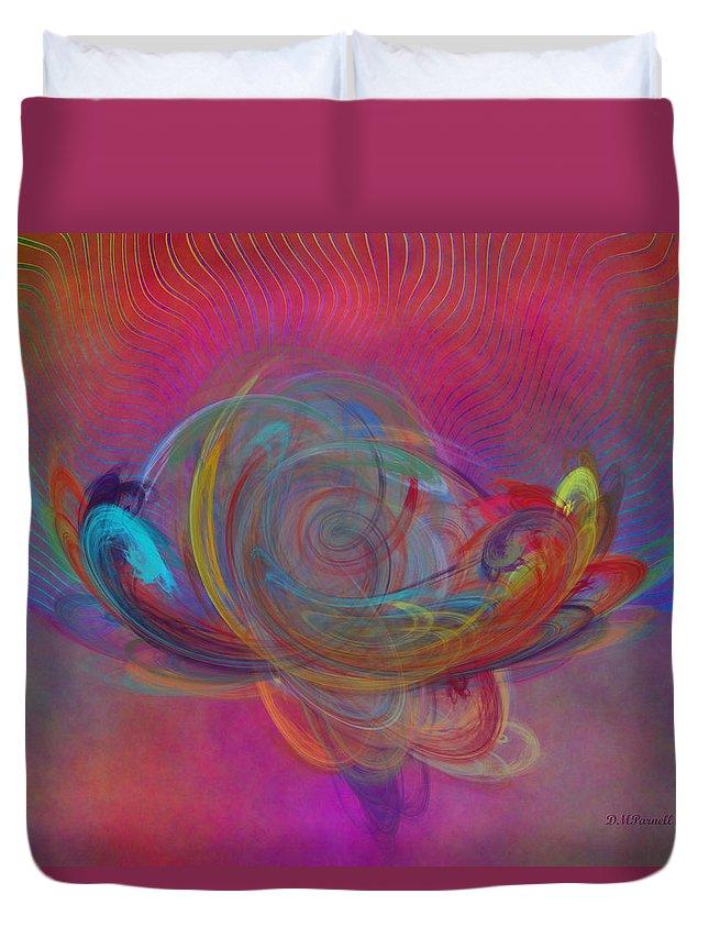 Magic Duvet Cover featuring the digital art Magic Lamp by Diane Parnell