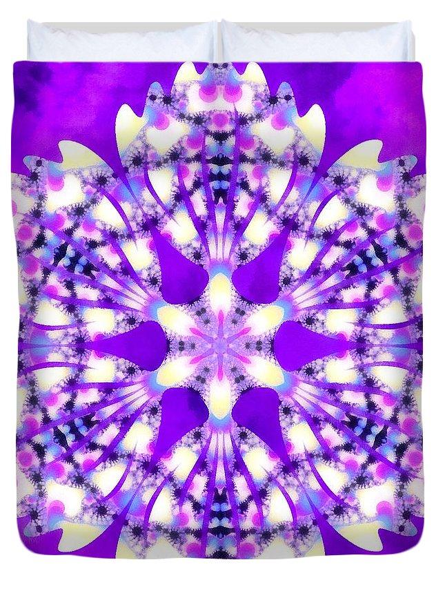 Sacredlife Mandalas Duvet Cover featuring the painting Magic Mystery by Derek Gedney