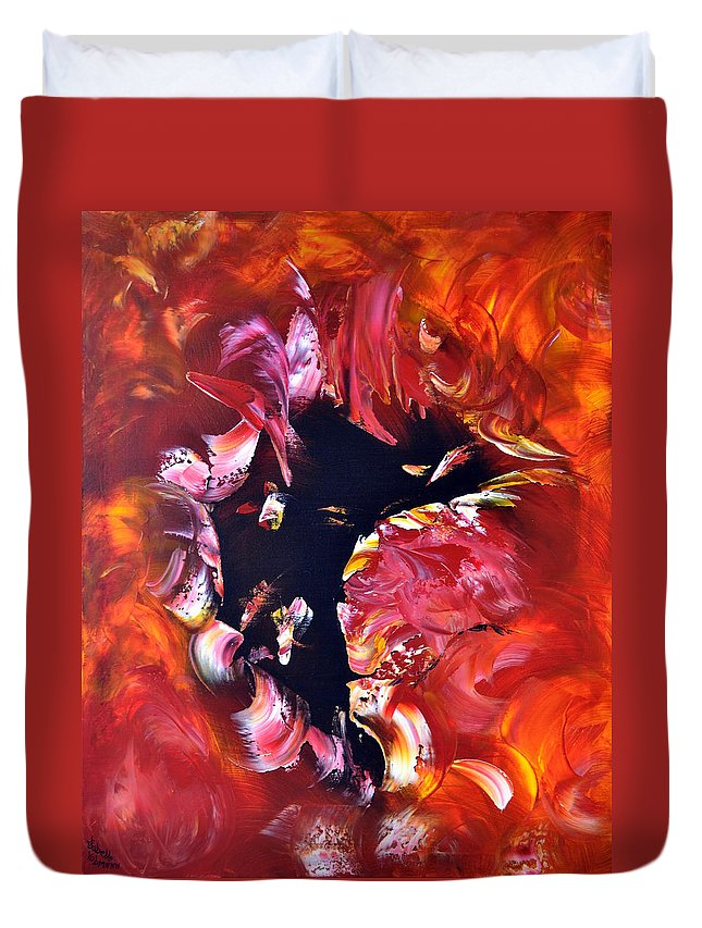Abstract Duvet Cover featuring the painting Magic Night by Isabelle Vobmann