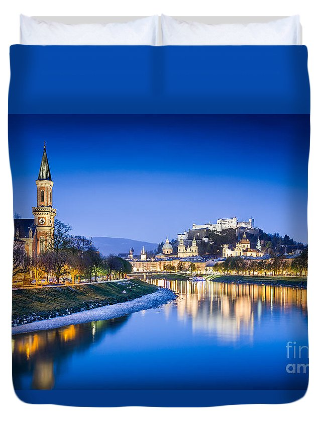 Alps Duvet Cover featuring the photograph Magic Salzburg by JR Photography
