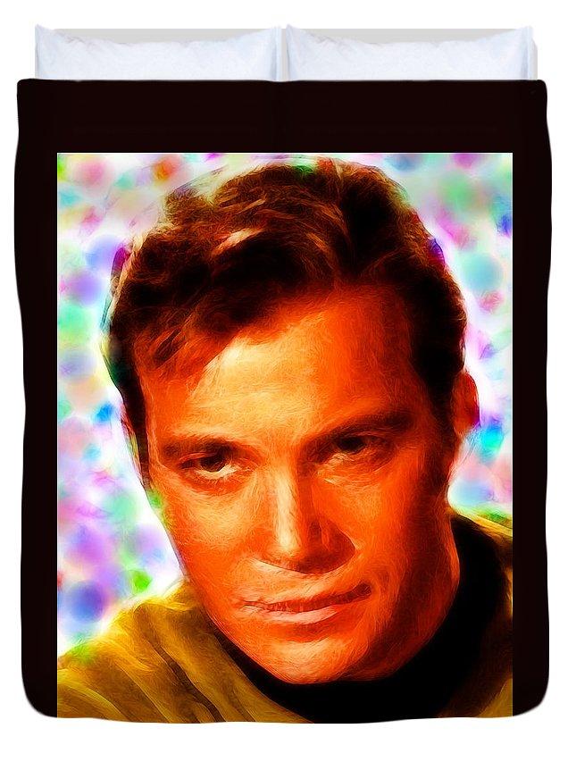 Kirk Duvet Cover featuring the painting Magical Kirk by Paul Van Scott