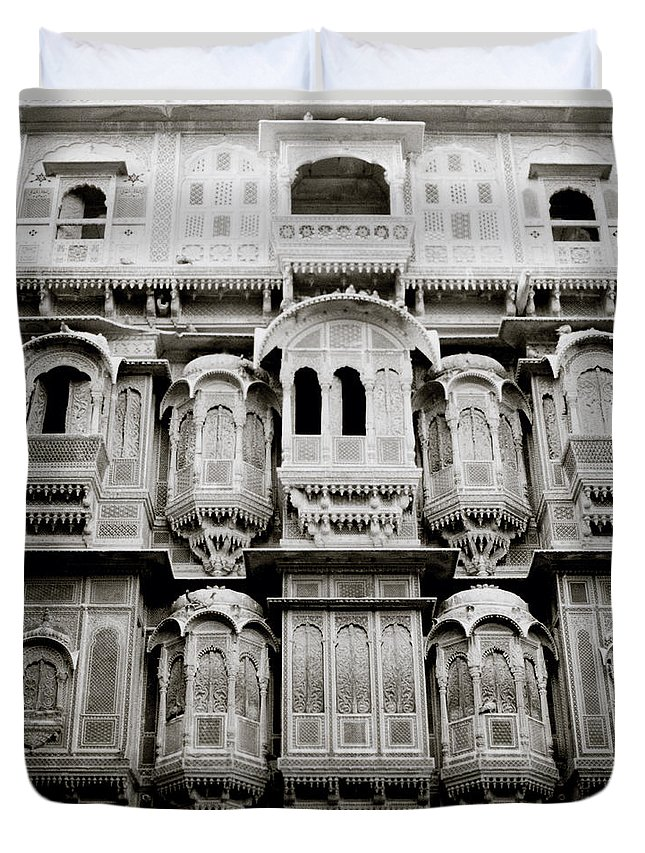 India Duvet Cover featuring the photograph Ancient Jaisalmer by Shaun Higson