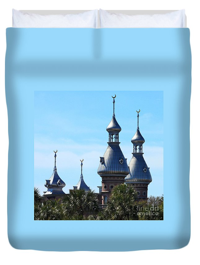 Minarets Of University Of Tampa Duvet Cover featuring the photograph Magnificent Minarets by Carol Groenen