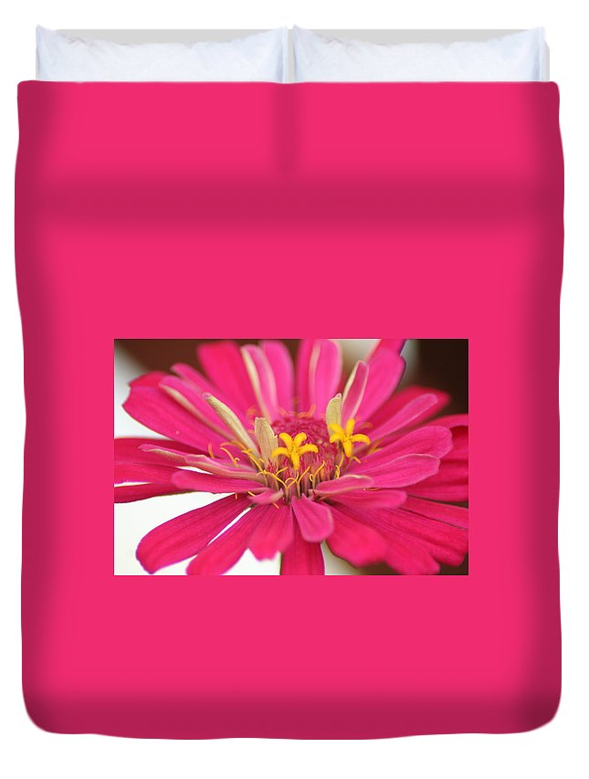 Pink Duvet Cover featuring the photograph Magnificent by Sheryl Chapman Photography