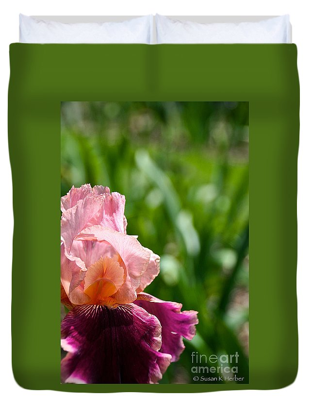 Flower Duvet Cover featuring the photograph Magnificent Wine And Roses by Susan Herber