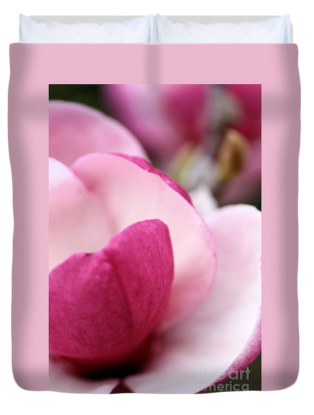 Spring Duvet Cover featuring the photograph Magnolia Flower by Joy Watson