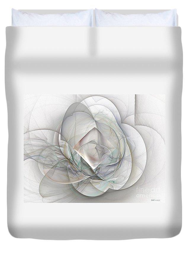 Magnolia Jazz Duvet Cover featuring the digital art Magnolia Jazz by Elizabeth McTaggart