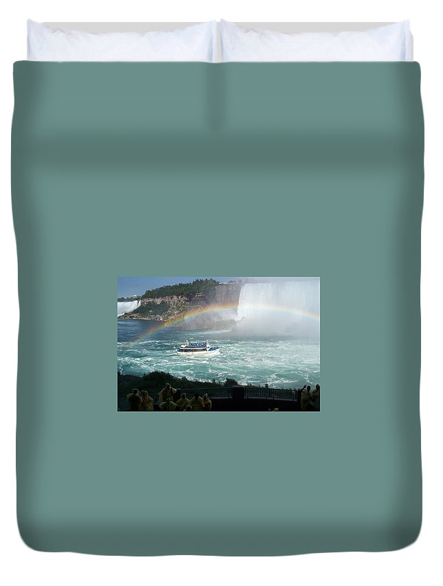 Boat Duvet Cover featuring the photograph Maid Of The Mist -41 by Barbara McDevitt