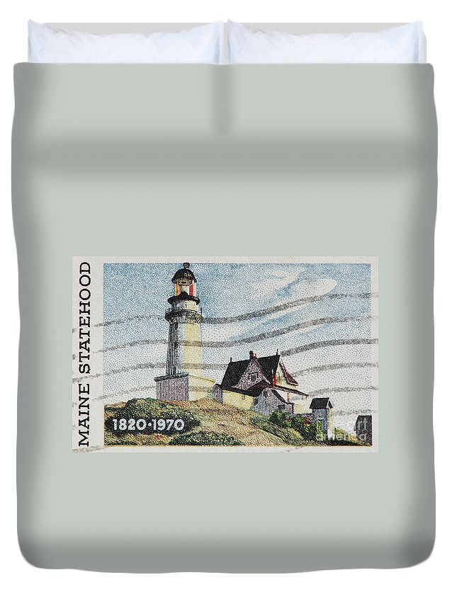 Maine Duvet Cover featuring the photograph Maine 1820-1970 by Andy Prendy