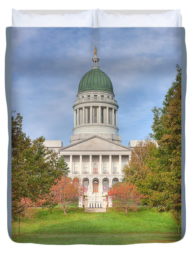 Clarence Holmes Duvet Cover featuring the photograph Maine State House I by Clarence Holmes