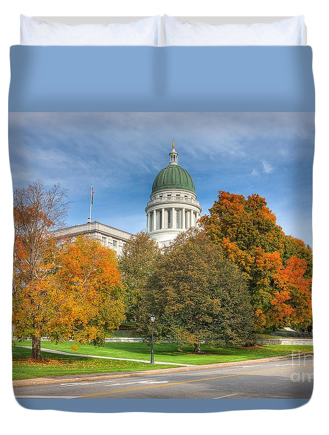 Clarence Holmes Duvet Cover featuring the photograph Maine State House Vii by Clarence Holmes