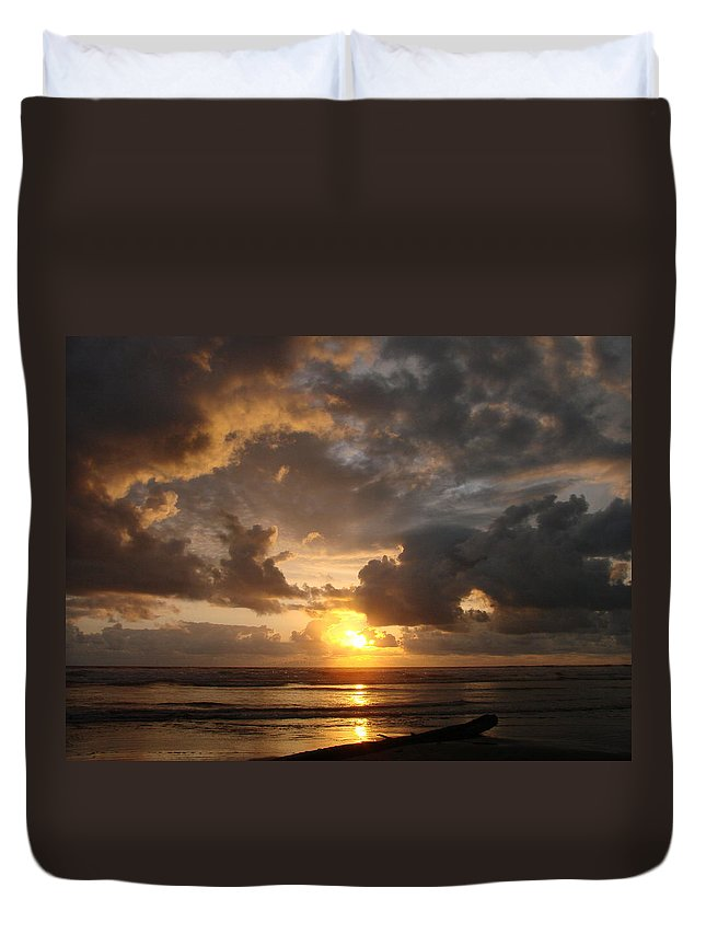 Sunset Duvet Cover featuring the photograph Majestic Sunset by Athena Mckinzie