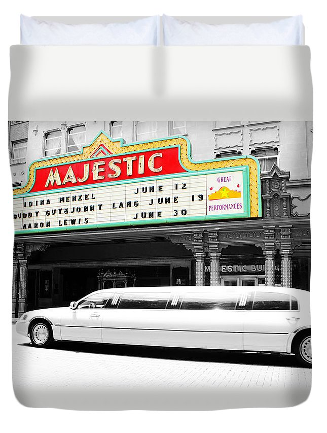 Downtown Duvet Cover featuring the photograph Majestic Night At The Show by Brooke Fuller