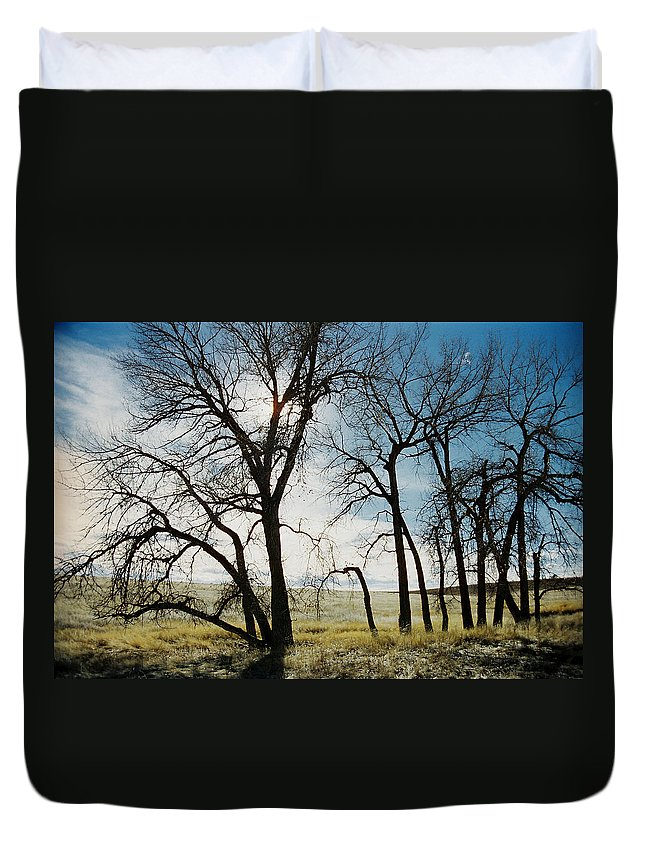Trees Duvet Cover featuring the photograph Make A Stand by Ric Bascobert