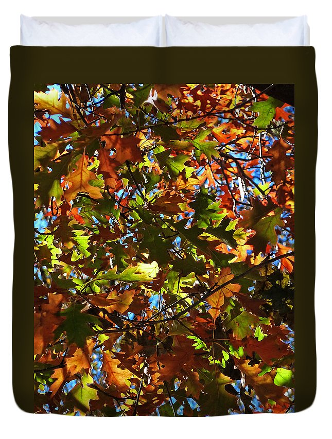 Leaves Duvet Cover featuring the photograph Make Your Mind Up by Steve Taylor