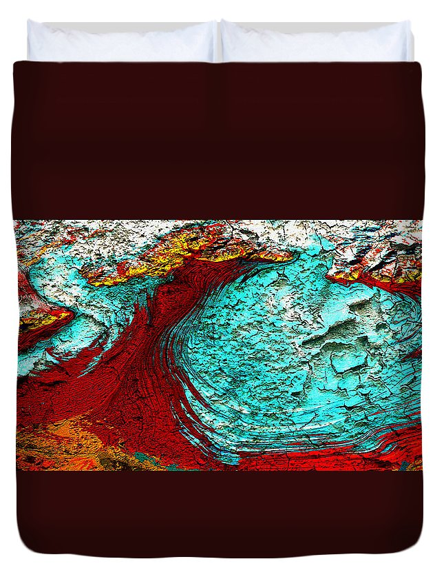 Digital Art Duvet Cover featuring the digital art Malaspina Glacier Abstract Art by Mary Clanahan