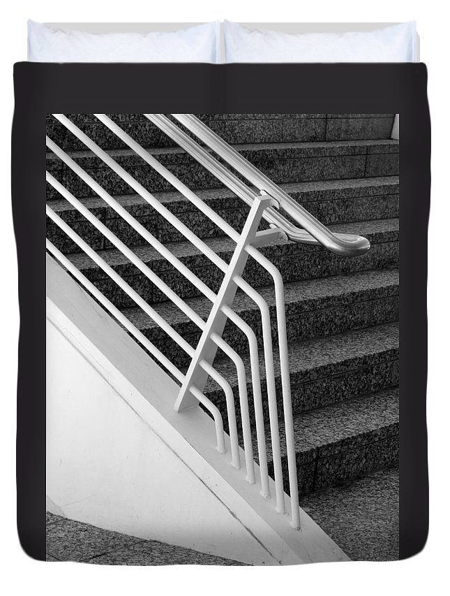 Steps Duvet Cover featuring the photograph Mam Art Deco Stairs by Anita Burgermeister