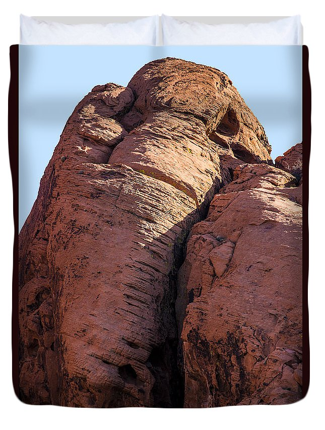 Mammoth Duvet Cover featuring the photograph Mammoth In The Rock by Onyonet Photo Studios