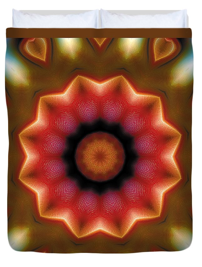 Relaxing Pattern Duvet Cover featuring the digital art Mandala 103 by Terry Reynoldson