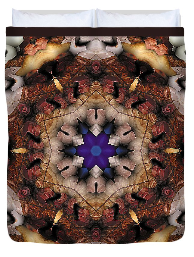Relaxing Pattern Duvet Cover featuring the digital art Mandala 16 by Terry Reynoldson