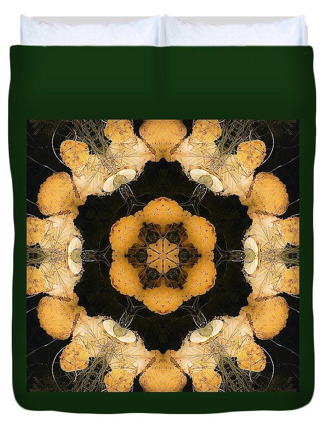 Duvet Cover featuring the photograph Mandala81 by Lee Santa
