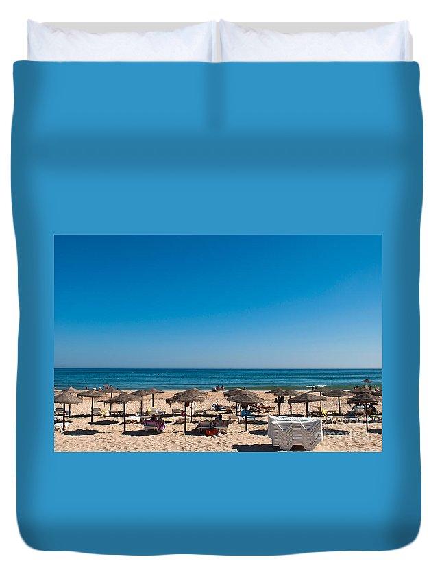 Manta Duvet Cover featuring the photograph Manta Rota Beach by Luis Alvarenga