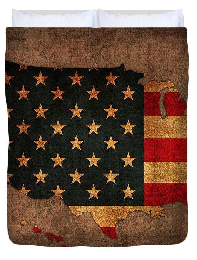 America Map Duvet Covers