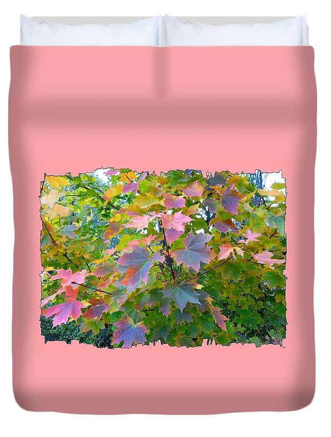 Maple Magnetism Painting Duvet Cover featuring the digital art Maple Magnetism Painting by Will Borden