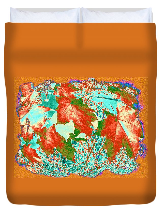 Maple Mania Duvet Cover featuring the digital art Maple Mania 28 by Will Borden