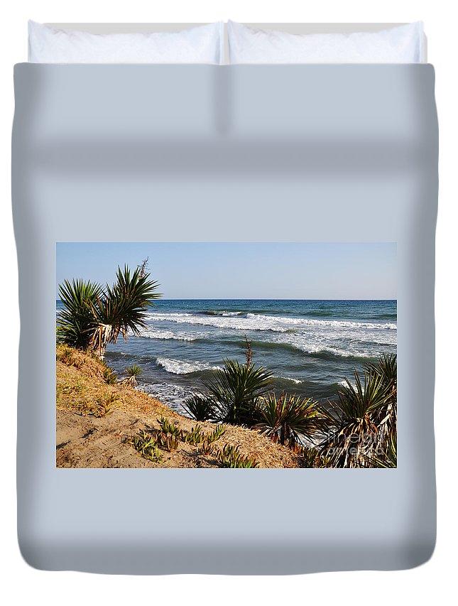 Beach Duvet Cover featuring the photograph Marbella Beach by Luis Alvarenga