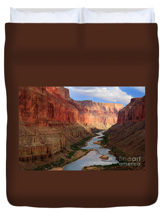 America Duvet Cover featuring the photograph Marble Canyon - April by Inge Johnsson