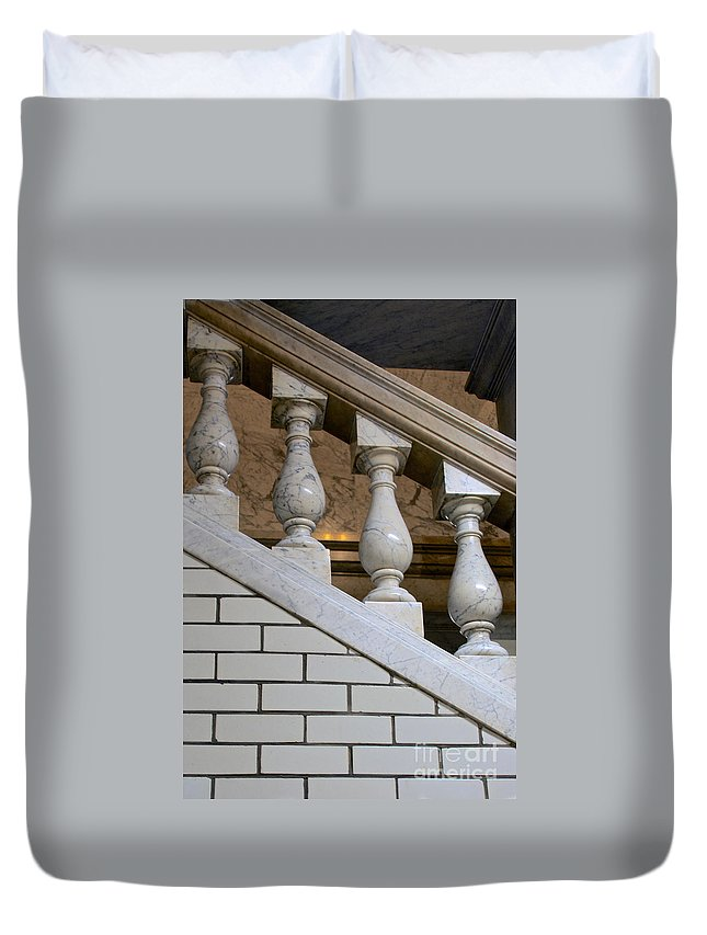 Annapolis Duvet Cover featuring the photograph Marble Staircase by Mark Dodd