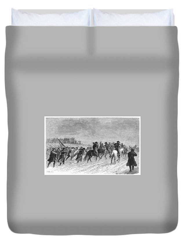 1776 Duvet Cover featuring the photograph March To Trenton, 1776 by Granger