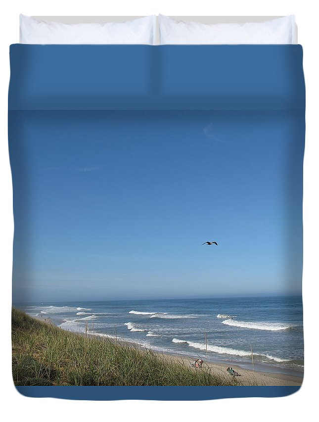 Seascape Duvet Cover featuring the photograph Marconi Beach Wellfleet Ma by Barbara McDevitt